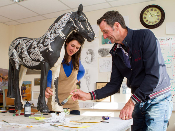 Olympic gold medallist Sir Mark Todd has turned his hand to art to collaborate with renowned artist Michelle McCullagh to bring the story of abandoned Thoroughbred horse, Fern to life for World Horse Welfare's Invisible Horse sculpture trail.