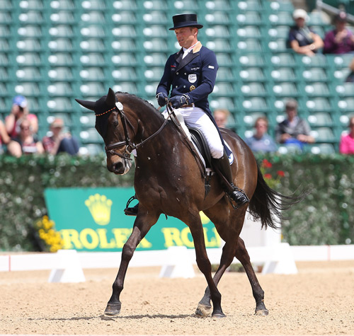 Michael Jung and Fischerrocana FST have the lead after the dressage phase of the Rolex Kentucky Three-Day Event.