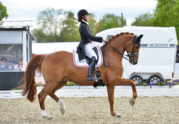 Cathrine Dufour's double of victories with Attergaards Cassidy proved pivotal to Denmark's success at the second leg of the FEI Nations Cup Dressage 2016 series at Odense on Sunday.