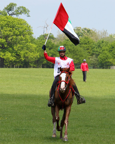 Saif Ahmed Al Mozroui of the UAE won the 120km endurance ride at Windsor, riding Ramaah to victory in a time of 04:41:27.
