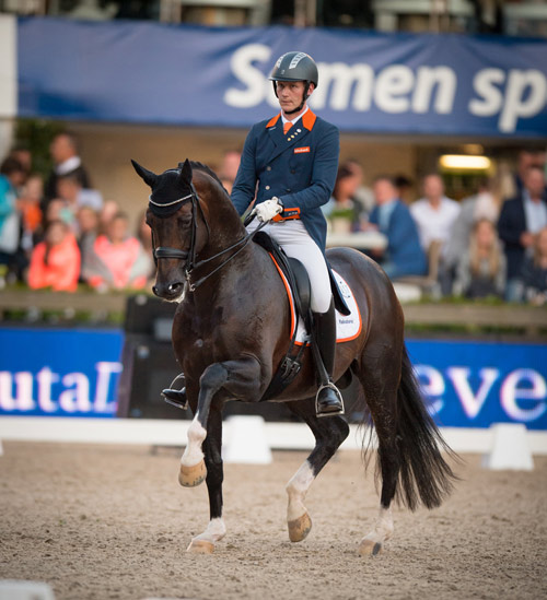 Diederik van Silfhout and Arlando NOP's third-place finish in theFreestyle clinched victory for The Netherlands in the fourth leg of the FEI Nations Cup Dressage 2016 series. © FEI/Arnd Bronkhorst