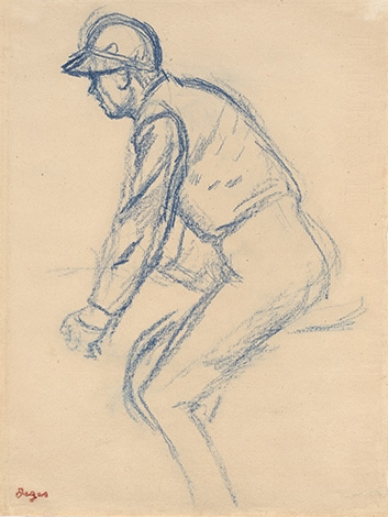 Jockey Facing Left, by Hilaire Germain Edgar Degas; Virginia Museum of Fine Arts, Richmond. Collection of Mr. and Mrs. Paul Mellon.