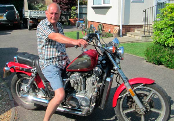 Alan Joseph, 69, said the nearly 3000-mile ride was tough - but he'd do it again.