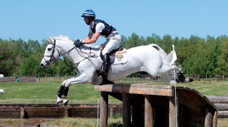 Clarke Johnstone and Balmoral Sensation, pictured at New Zealand's National Eventing Championships last October.