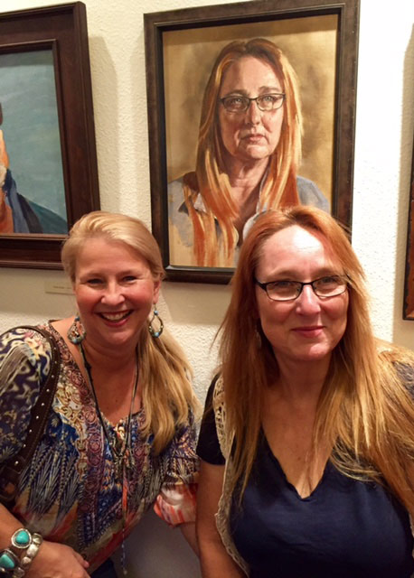 A portrait of Laura Leigh, right, is on show at theNevada Historical Society.