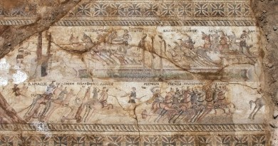 The impressive chariot scene was on the floor of what may have been a nobleman's villa during Roman rule on the Mediterranean island of Cyprus. Photos: Cyprus Department of Antiquities