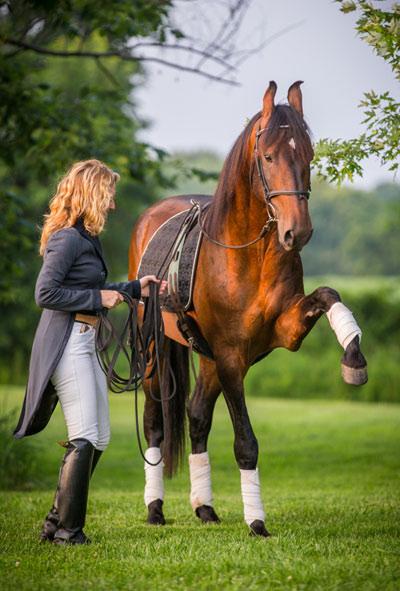 Dr Maria Katsamanis and her Marwari stallion Bahadur.