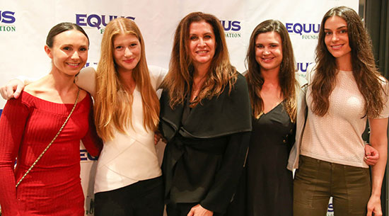 Georgina Bloomberg, Jennifer Gates, Valerie Angeli, Hayley Barnhill and Ariana Rockefeller at the cocktail party on Friday night.