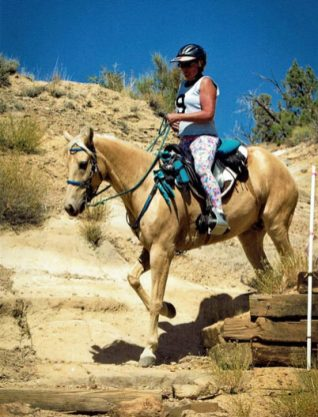 NATRC horses are no strangers to hill climbs, descents, creek and river crossings, sand, rocks, mud, downfall, logs, brush and wild critters. For Hooch and Lin, it is just another day on the trail no matter how challenging.