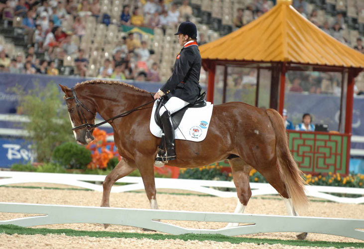 Anne Dunham and Teddy Edward at the 2008 Olympic Games.
