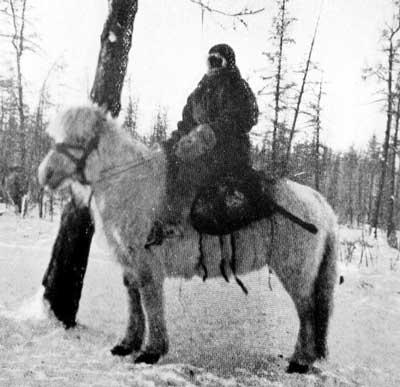 A Siberian Yakute horseman in the winter of 1905.