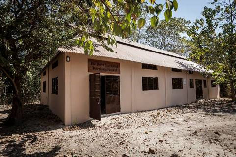 The new Veterinary Hospital in Gambia, named in honor of British vet Derek Knottenbelt.