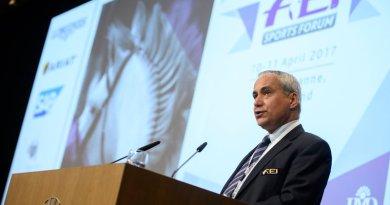 FEI PresidentIngmar De Vos at the organisation's Sports Forum in Lausanne earlier this week.