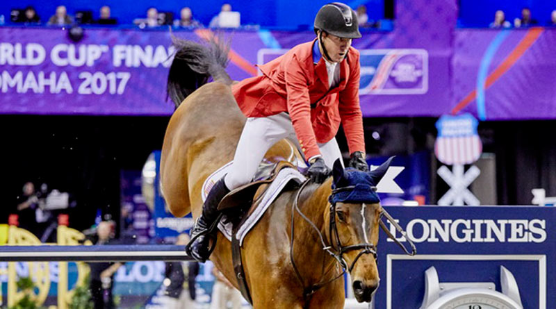 McLain Ward and HH Azur, who won the Longines FEI World Cup Jumping Final 2017.