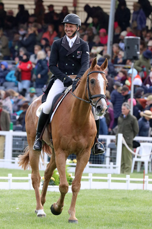 Andrew Nicholson was rather pleased with his score of 38.0 on Nereo.