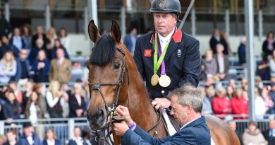 Big Star and Nick Skelton before their retirement ceremony at the Royal Windsor Horse Show on Sunday.