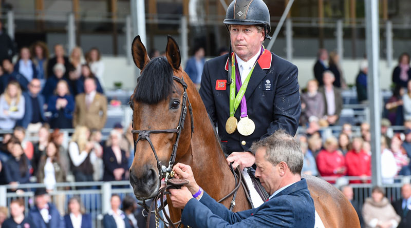 Big Star and Nick Skelton before their retirement ceremony at theRoyal Windsor Horse Show on Sunday.
