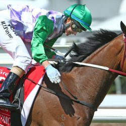 Michelle Payne and Prince of Penzance winning the 2015 Melbourne Cup.  © Getty Images