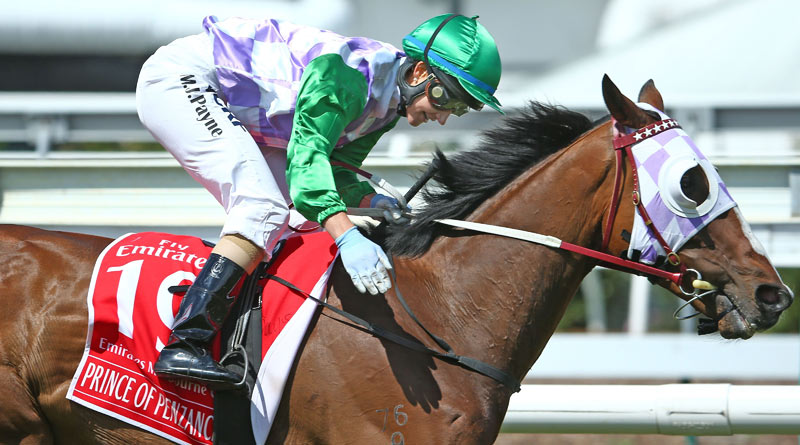 Michelle Payne and Prince of Penzance winning the 2015 Melbourne Cup.