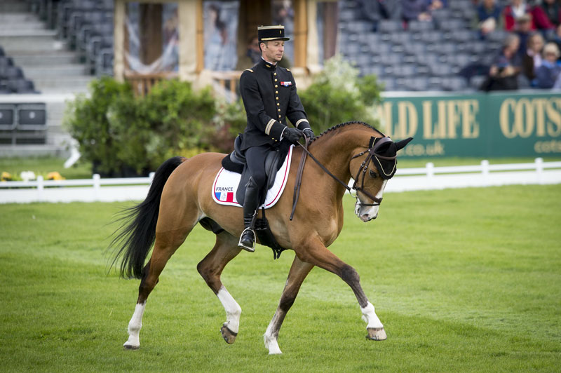 Thibaut Vallette and Qing Du Briot lead after the first day of dressage at Badminton.