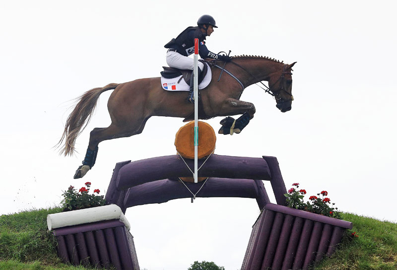 Pierre Touzaint (France) and Scapin du Brio on the cross-country.