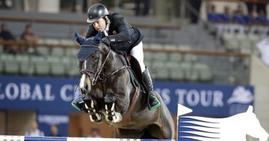 Leading Irish showjumper Cian O'Connor and Callisto.
