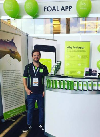 Foal App has been on show at veterinary conferences and Equitana in the past few months.