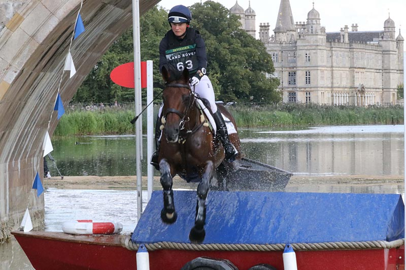 Burghley runner up Piggy French and Vanir Kamira.