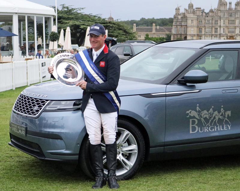 Oliver Townend with his Burghley spoils.
