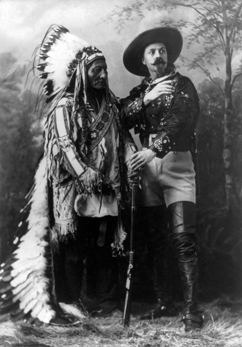 Sitting Bull and Buffalo Bill, Montreal, Quebec, 1885.