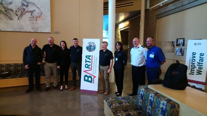 Presenters at theBritish Animal Rescue and Trauma Care Association (BARTA) conference at the University College Davis School of Veterinary Medicine, California.