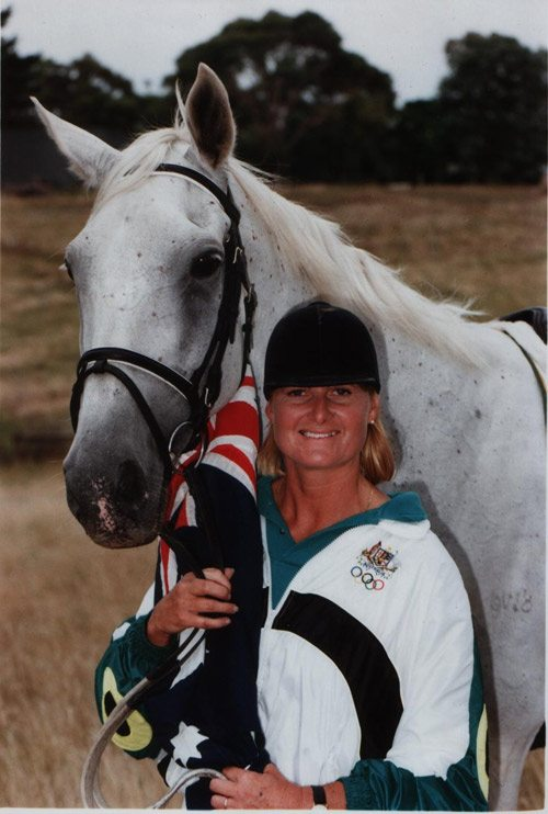 Gillian Rolton and her Olympic horse Peppermint Grove (Fred), pictured in 1992.
