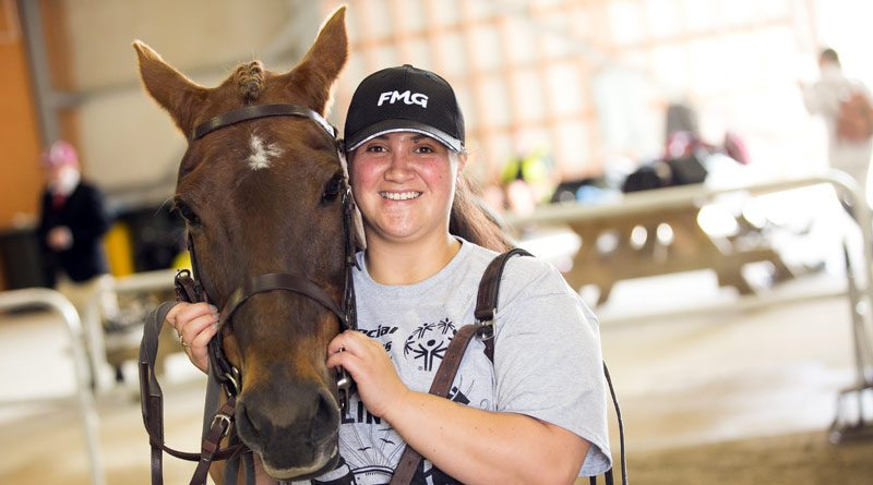 Special Olympics New Zealand volunteer Arianna Ashworth with 25-year-old horse Rusty at Manfield Park.