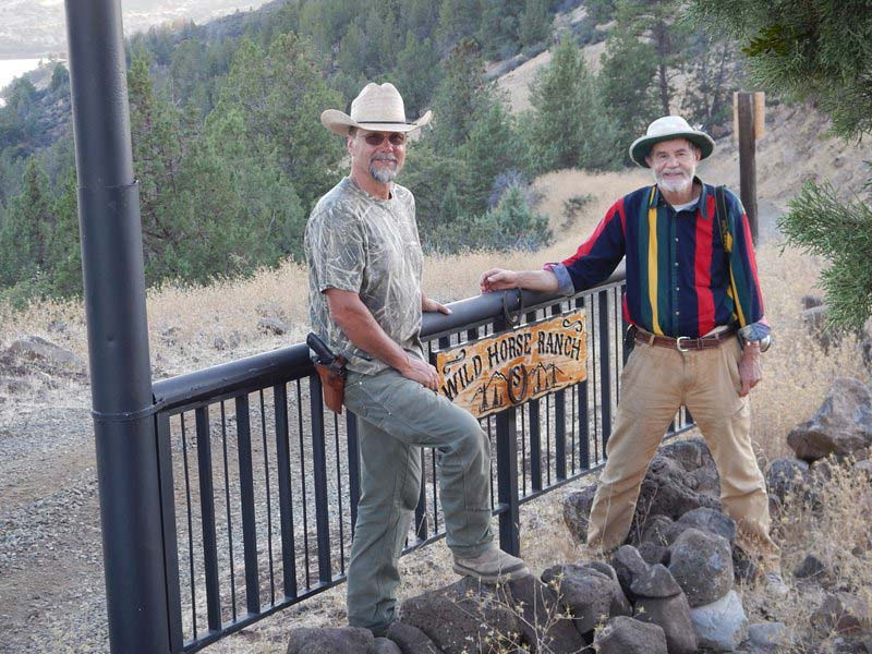 Bill Simpson, left, with Craig Downer at Wildhorse Ranch.