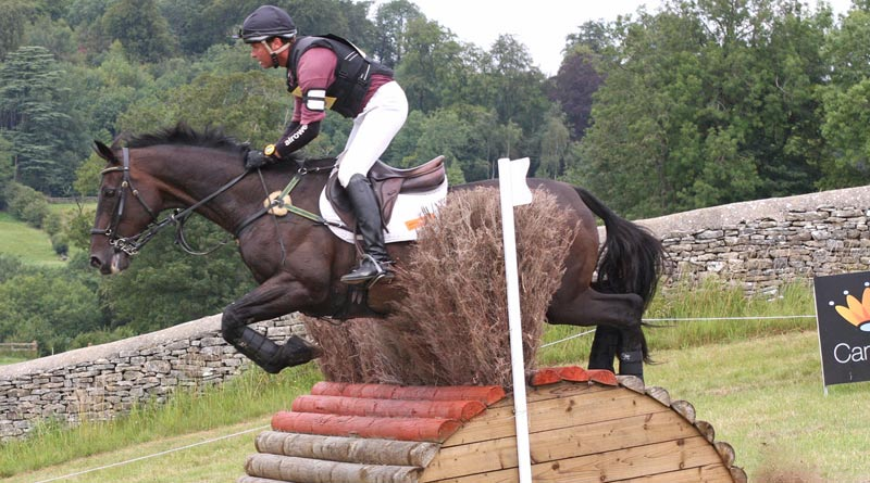 Kiwi eventer Dan Jocelyn riding Special Advocate at Gatcombe in 2011. There are several uphill and downhill portions on the cross-country.