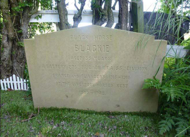 Blackie's gravesite in Liverpool.