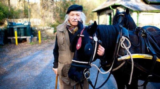 Walter Lloyd with fell pony Fairmile.