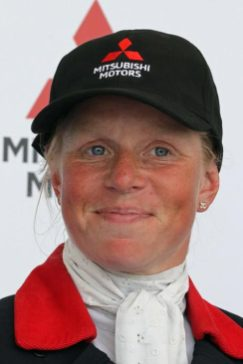 Ros Canter was the overnight leader after the first day of dressage.