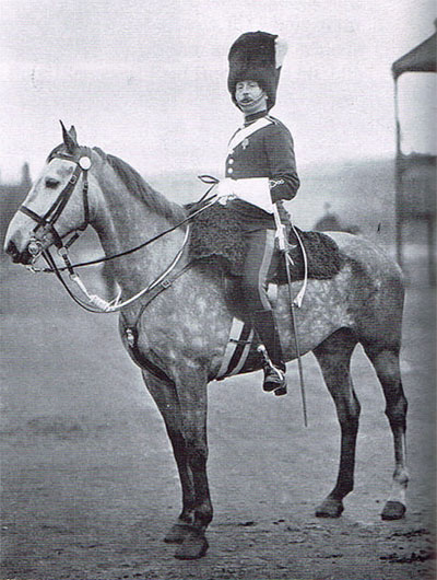 The imposing Sergeant Major Duncan of the Scots Greys, in full dress, pictured in 1898.
