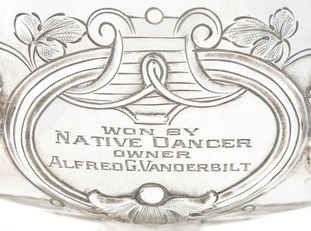 Native Dancer's 1953 Preakness Stakes trophy is up for auction.