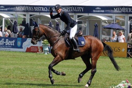 Bramham CCI3* Horse Trials winnersJulia Krajewski and Chipmunk FRH.