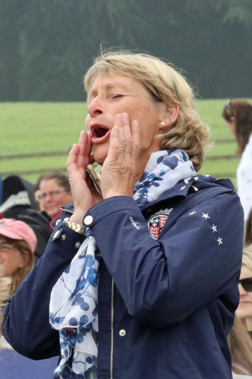 Mary King gets vocal in her support for daughter Emily, who won the Bramham Under 25 CCI3* on Dargun.