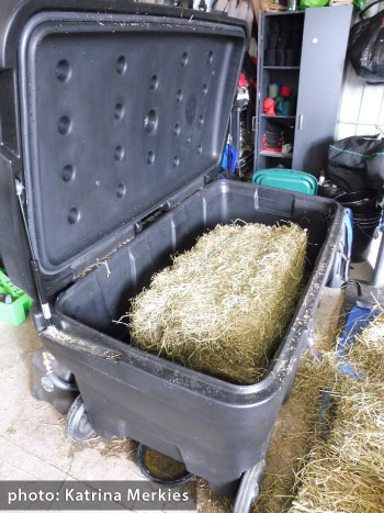 A hay steamer. Preliminary results suggest soaking hay significantly reduced WSC while steaming conserved WSC content.