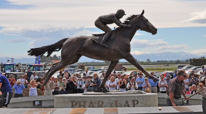 A statue of famed New Zealand galloper Phar Lap was unveiled at Timaru racecourse in 2009. The future of the track is in jeopardy following the release of the Messara Report.