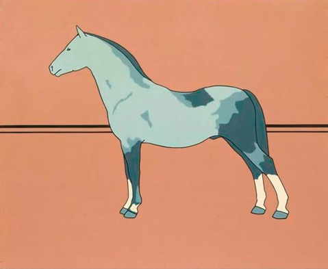 "Patrick Caulfield's 1964 ""Pony"" is going up for auction next month. The oil on board work is 122 x 152.5cm."