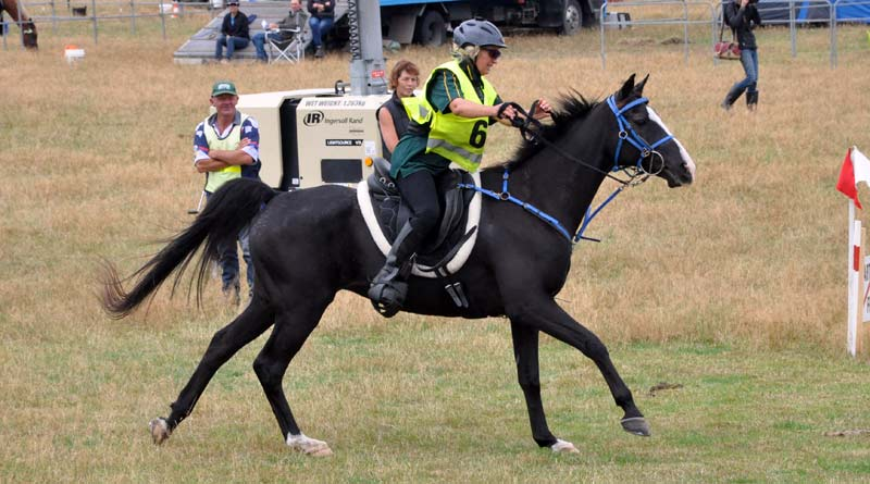 Barack Obama and Jenny Champion at the 2016 New Zealand National Endurance Championships.