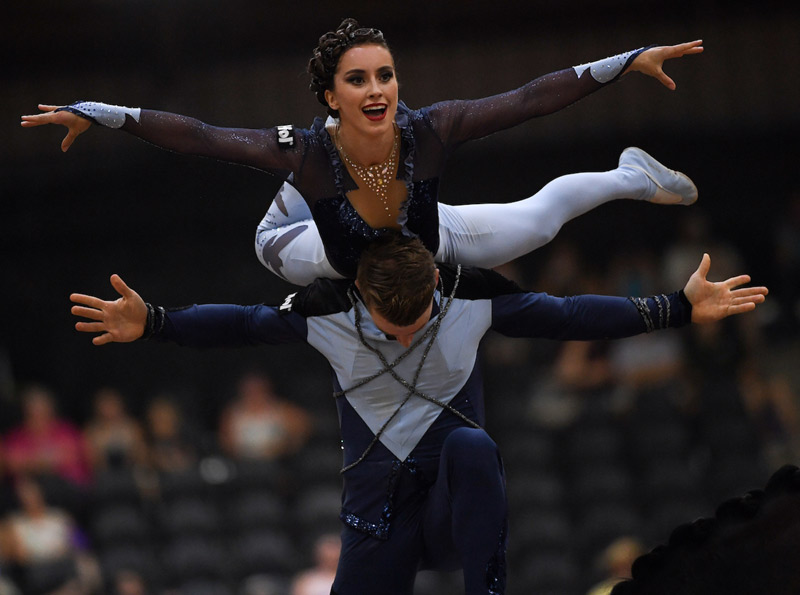 Chiara Congia and Justin van Gerven helped Germany to victory in the Squad Freestyle at the FEI World Equestrian Games 2018.