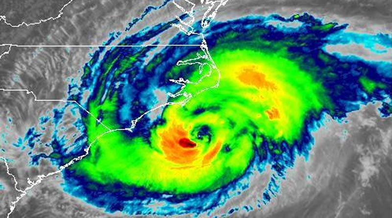 Hurricane Florence is bearing down on the east coast of the USA.