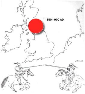 The DMRT3 gene mutation originated in medieval England.