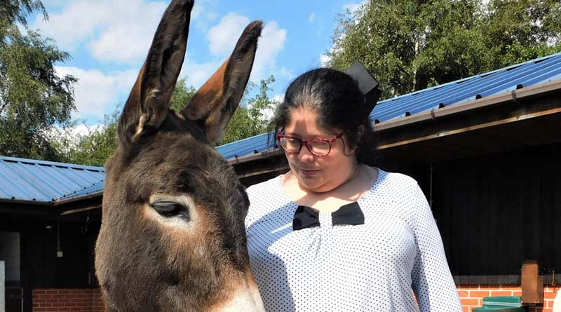 Gillian Smith has benefited from equine therapy at The Donkey Sanctuary.